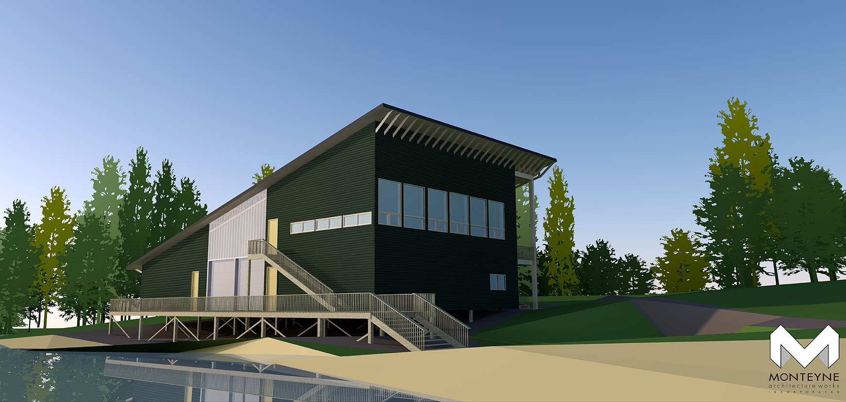 architect's rendering of new camp depot